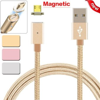 2.4 A Micro USB Charging Cable Magnetic Adapter Charger for Samsung For Android Silver - intl
