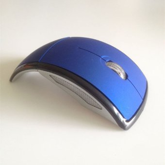 2.4 GHz Wireless Game Optical Mouse Arc Foldable Mice (Blue) - 2