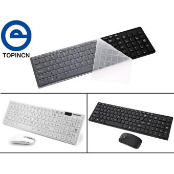2.4G Optical Wireless Keyboard and Mouse Mice USB Receiver Combo Kit for MAC PC Black - intl