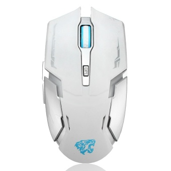 2.4G Wireless Rechargeable 2400DPI 6 Buttons Optical USB Gaming Mouse PC Mice White - intl
