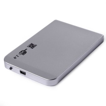 2.5 Inch Shockproof USB 2.0 External Storage SATA Hard Drive Disk HDD Case Enclosure Box Silver