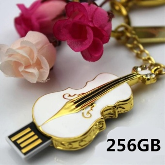 256GB USB 2.0 Crystal Violin Model Flash Memory Stick Storage Thumb Pen Drive - intl