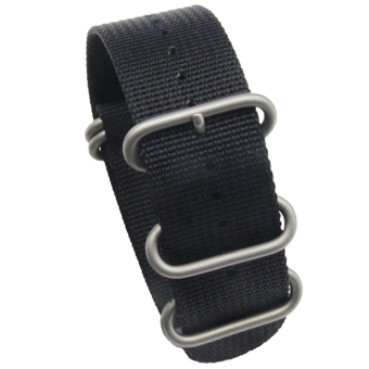 26mm Nylon Canvas Braided Adjustable Replacement Watch Band StrapBelt with Silver Clasp for Garmin Fenix 3 Black
