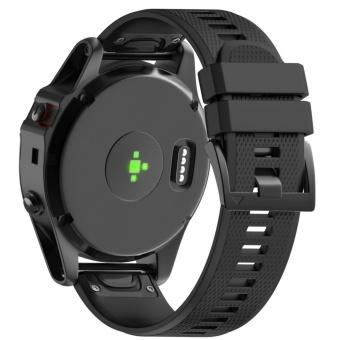 26mm Width Soft Silicone Easy Fit Band Strap for Fenix 5X / Fenix 3/3HR GPS Watch - intl - 5