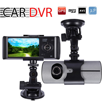 "2.7"" LCD HD Car DVR Dual Camera Driving Recorder Car Camera Dash-Cam GPS Logger G-Sensor Price Philippines"