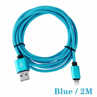 2M Premium Nylon Braided Lightning USB Cable Sync and Charging Cord Compatible with iPhone 7 7 Plus 6 6s 6 plus 6s plus 5 5s 5c se iPad iPod & More - intl