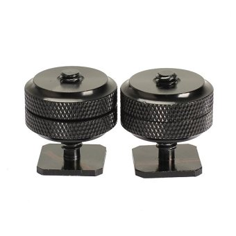 2PCS 1/4 Tripod Screw to Camera Flash Hot Shoe Mount Adapter (Intl)