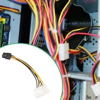 2pcs 6Pin to Dual 4 Pin PCI-E PCI Express Graphics Card PowerAdapter Cable - intl - 2