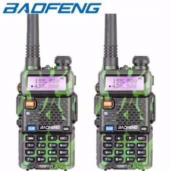 2PCS Baofeng UV-5R VHF/UHF Dual Band Two-Way Radio UV5R (Green)