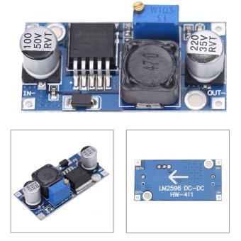 2pcs DC-DC 3A Buck Converter Adjustable Step-Down Power SupplyModule LM2596S - intl - 2