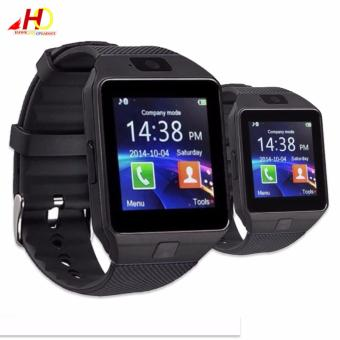 2PCS DZ09 Smart Watch Quad Phone Bluetooth Touch Screen (Grey)