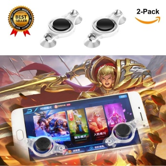 2pcs Upgrade Version Mobile Joystick for Smartphone Gaming Fling Mini Joysticks Zero Any Touch Screen Joystick Perfect Mobile Game Controller For Android iPad iPhone iPod touch Tablet Arcade Games Mobile Legend,????,Fifa & Etc - intl