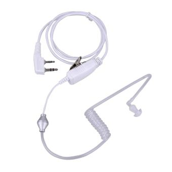 2Pin Acoustic Tube PTT Mic Earpiece for Baofeng Kenwood 2wayRadio(White) - intl
