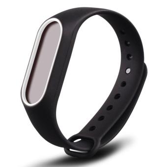 3-Black 3PCS Silicone Wrist Strap for Xiao Mi Band 2 Tracker - intl - 2