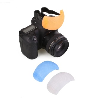 3 Color Puffer Pop-Up Flash Soft Diffuser Dome For Canon SLR Camera Universal - intl