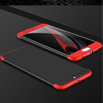 3 In 1 Combo 360 Degree Full Body Shockproof Protective Phone Case Frosted Armor Hard PC Back Cover for Huawei P10 Plus 5.5 Inch - intl