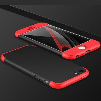 3 In 1 Combo Frosted Armor Hard PC Back Cover 360 Degree Full Body Shockproof Protective Phone Case for Apple iPhone 5S 5SE - intl