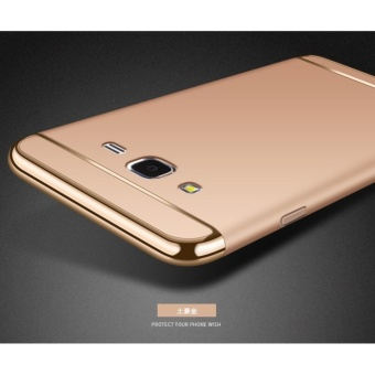 3 In 1 Fashion Ultra Thin Matte Hard Case for For Samsung Galaxy J3 2016(gold) - intl