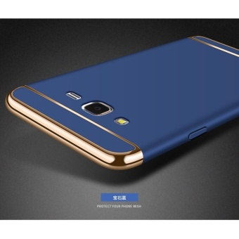 3 In 1 Fashion Ultra Thin Matte Hard Case for For Samsung Galaxy J52015(Blue ) - intl