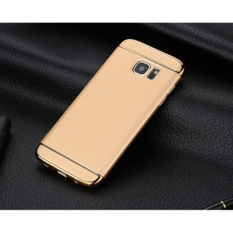 3 In 1 Fashion Ultra Thin Matte Hard Case for For Samsung Galaxy S6 Edge(gold) - intl