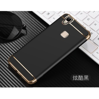 3 In 1 Fashion Ultra Thin Matte Hard Case for For VIVO V3Max(black) - intl