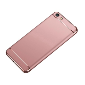 3 In 1 Hard PC Hybrid Case Luxury Frosted Matte Protective Back Cover Mobile Phone Shell for OPPO A77 / F3 - intl