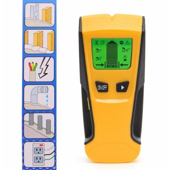 3 in 1 LCD Stud Center Finder AC Live Wire Detector Metal Scanner Hot - intl