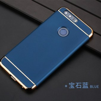 3 in 1 PC Protective Back Cover Case For Hua wei Honor 8 (Blue) - intl