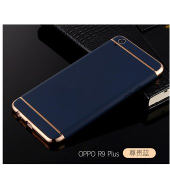3 in 1 PC Protective Back Cover Case For Oppo A37 (Blue) - intl