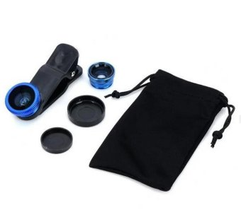 3 in 1 phone camera lens for smartphone cellphone (Blue)