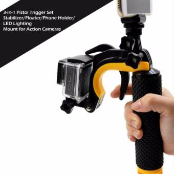 3-in-1 Pistol Trigger Set Floating Holder Stabilizer for GoPro Hero3+/4 Xiaomi Yi Action Camera (Black/Yellow)