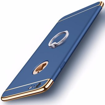 3 in 1 Ultra Slim Metal Hybrid Anti-skidding Hard PC Back CaseCover With Ring Kickstand for Apple iPhone 6S Plus/ 6 Plus(Blue) -intl