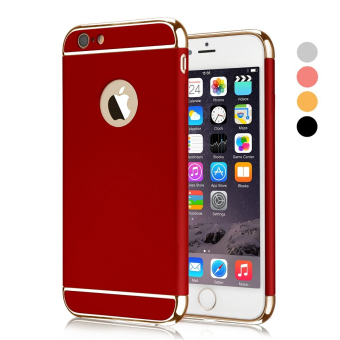 3 In 1 Ultra Thin and Slim Hard Case Coated Non Slip Matte Surface with Electroplate Frame for Apple iPhone 6 Plus / 6S Plus (Red) - intl