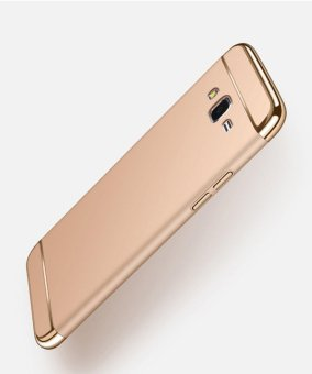 3 In 1 Ultra Thin and Slim Hard Case Coated Non Slip Matte Surface with Electroplate Frame for Samsung Galaxy J5(2015) (Gold) - intl Price Philippines
