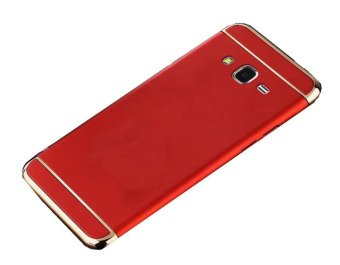3 In 1 Ultra Thin and Slim Hard Case Coated Non Slip Matte Surface with Electroplate Frame for Samsung Galaxy J7 2015 (Red) - intl Price Philippines