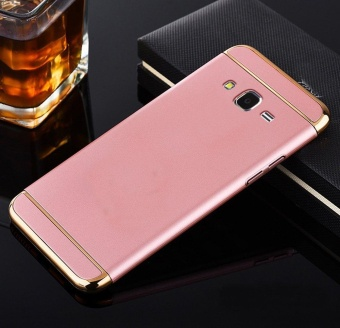3 In 1 Ultra Thin and Slim Hard Case Coated Non Slip Matte Surface with Electroplate Frame for Samsung Galaxy J7 2015(Rose Gold) - intl