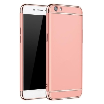 3 In 1 Ultra Thin and Slim Hard Case Coated Non Slip Matte Surface with Electroplate Frame for Vivo Y55 (Rose Gold) - intl