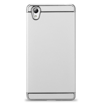 3 In 1 Ultra Thin and Slim Hard Case Coated Non Slip Matte Surfacewith Electroplate Frame for Vivo Y51 (Silver) - intl Price Philippines