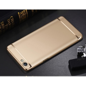 3 In 1 Ultra Thin and Slim Hard Case Shockproof Electroplate Frame for Oppo F3 Plus(gold) - intl