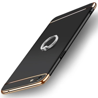 3 in 1 Ultra thin PC with Metal Ring hard cover case phone case forOppo F3 Plus(Black) - intl