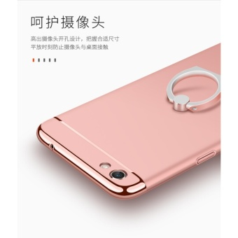 3 in 1 Ultra thin PC with Metal Ring hard cover case phone case forOppo F3 Plus(Black) - intl - 5