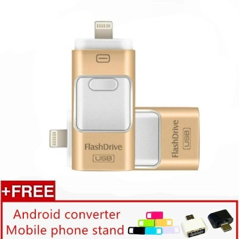 3 in 1 USB Flash Drive 256gb memory Usb Metal Pen Drive For iPhone Apple Android and windows PC Computer - intl - 2