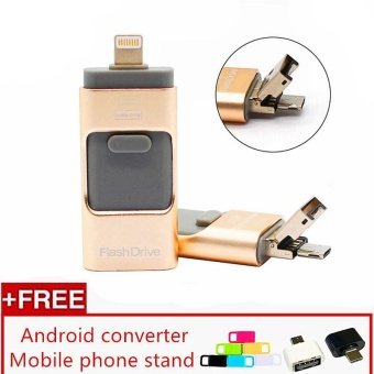 3 in 1 USB Flash Drive 256gb memory Usb Metal Pen Drive For iPhone Apple Android and windows PC Computer - intl