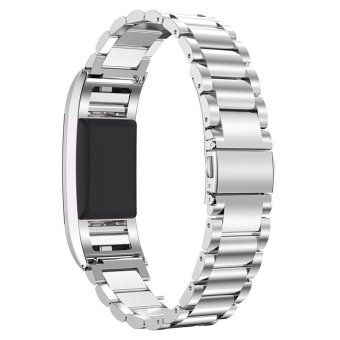 316L Stainless Steel Watch Strap for Fitbit Charge 2 - Silver -intl