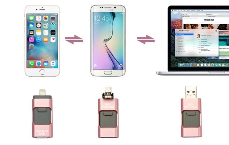 32GB Phone U Disk For iPhone 6, 6s Plus 5 5S 7puls ipad Metal Pendrive ...