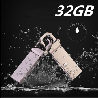 32GB USB 3.0 Hot Sale Waterproof Usb Flash Drive Mini Metal PenDrive Metal usb Flash Memory Stick-silver - intl
