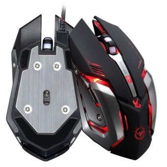 3500 DPI 6 Button Optical Custom Macros USB Wired Gaming SteelMouse Mice BK - intl