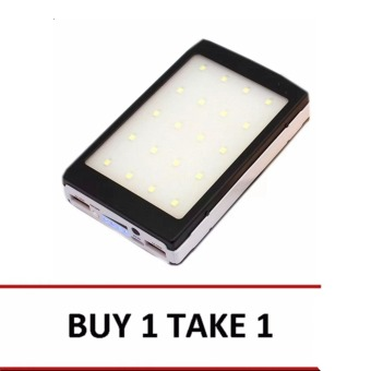 35000mAh Solar Power Bank with 20 LED Camp Light (Black) Buy 1 Take1