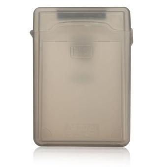 3.5'' inch IDE SATA HDD Hard Drive Disk Plastic Storage Box Case Enclosure Cover Gray - intl - 3