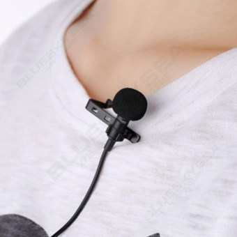 3.5mm Jack Clip-on Lapel Mini Lavalier Microphone Mic For IPhone SmartPhone - intl